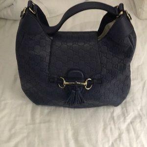 Gucci Blue Guccissima-HorseBit Handbag. NEW!!!